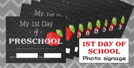 FREEBIE: 1st Day of School Signage