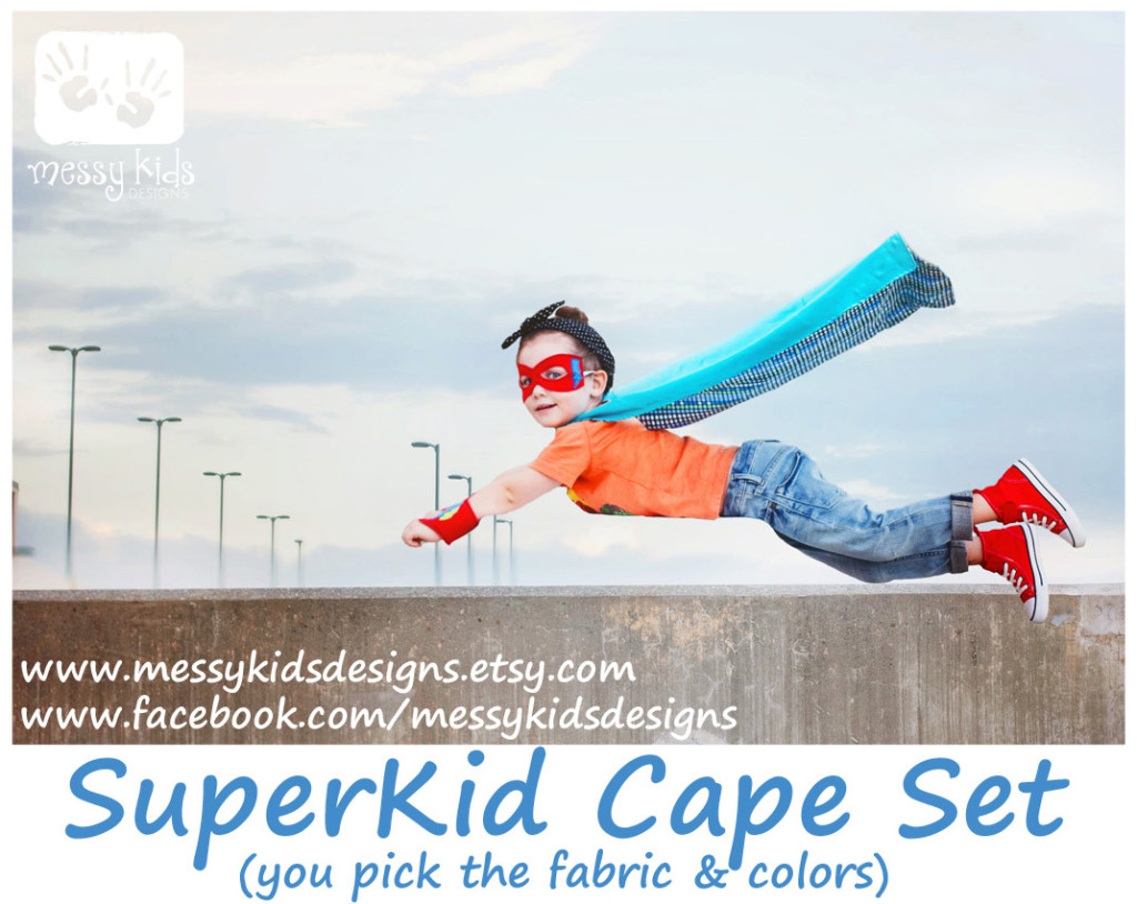 flying SuperKid with web