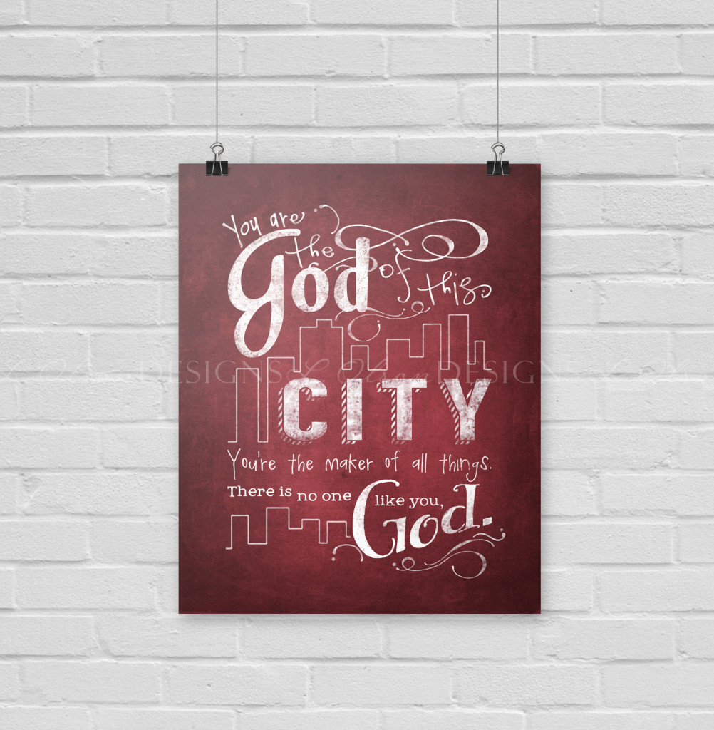 Decor_GodofthisCity_red